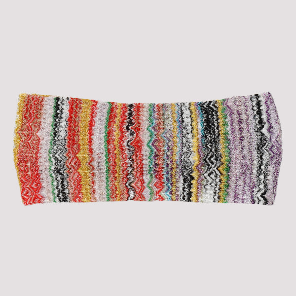 Multicolor knitted headband