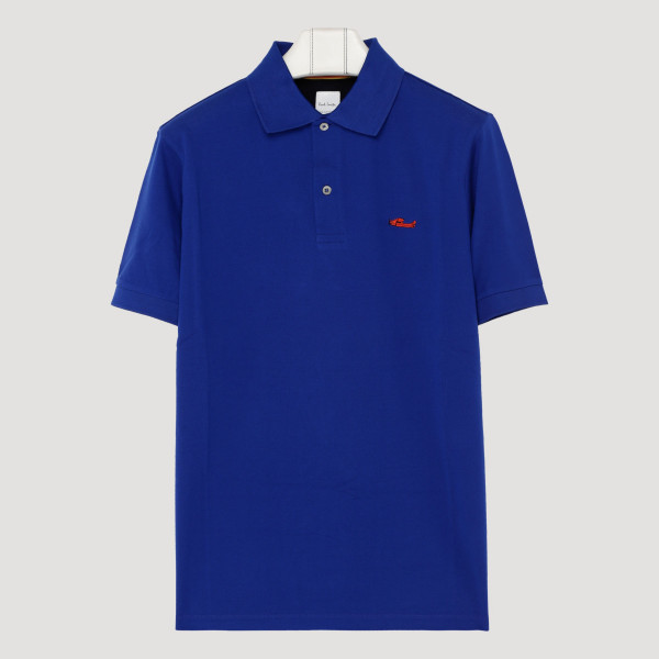 Blue embroidered logo polo...