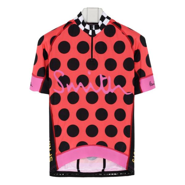 Multicolor polka dots cycling T-shirt