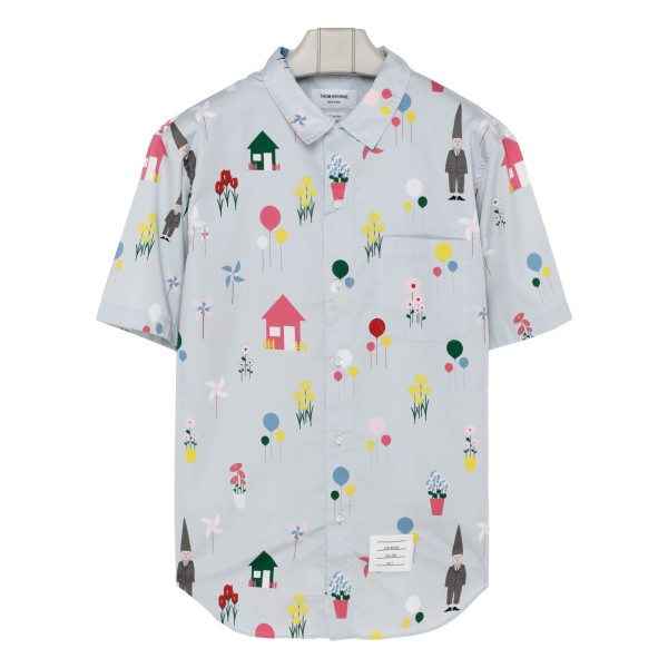 Light blue Gnome print shirt