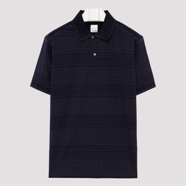 Navy blue dotted stripe...