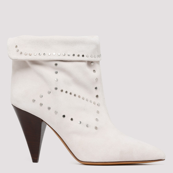 White Lisbo ankle boots