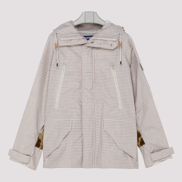 Checkered trench jacket