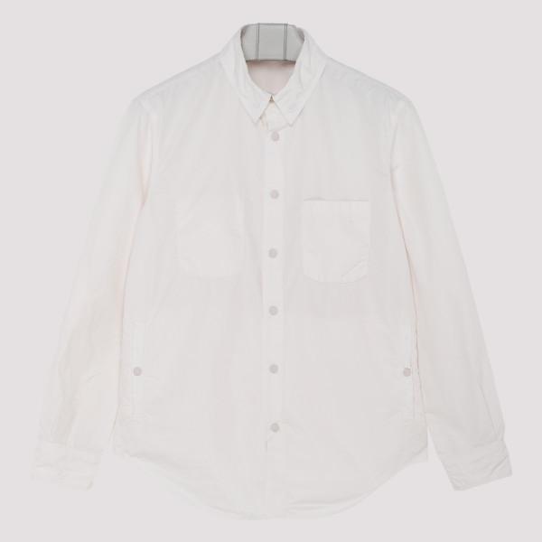 White cotton patch pocket...