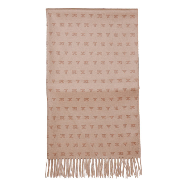 Pink cashmere logo scarf