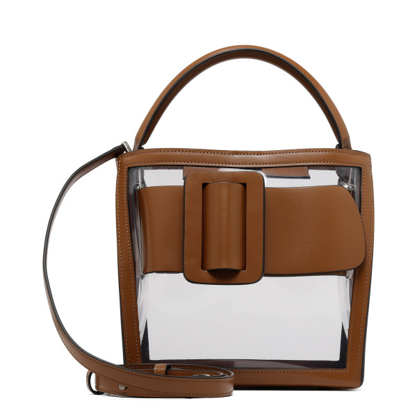 Devon 21 PVC leather-trimmed handbag