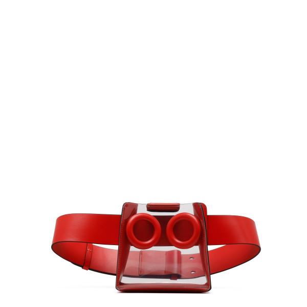 Deon PVC leather-trimmed belt bag