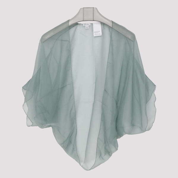 Water sheer silk top