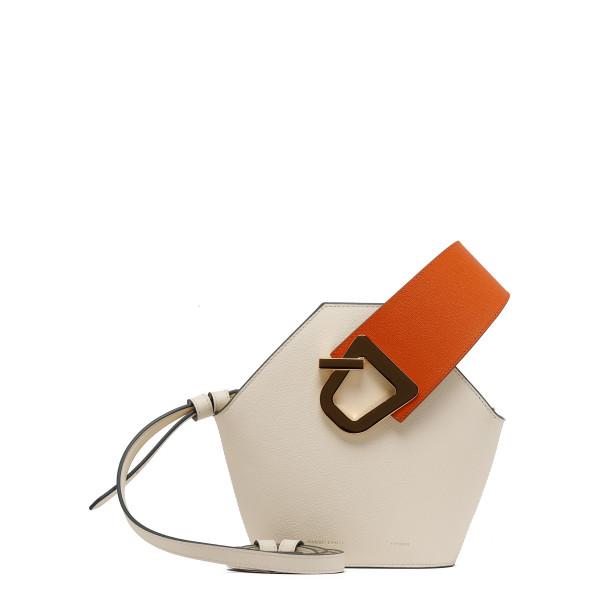 Mini Johnny ivory leather bucket bag