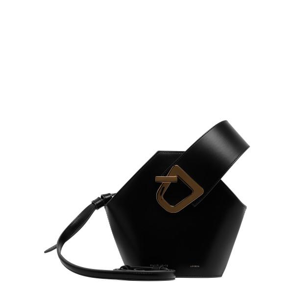 Mini Johnny black bucket bag
