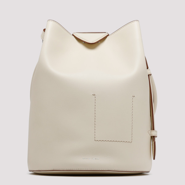 Jamie ivory leather backpack