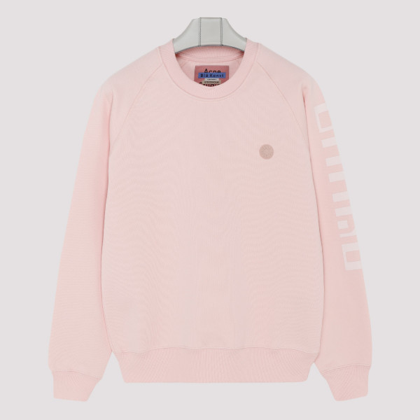 Blossom pink cotton sweatshirt