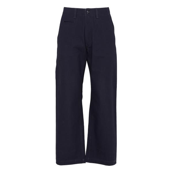 Navy cotton camo pants