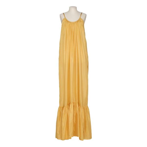 Brigitte silk-habotay maxi dress