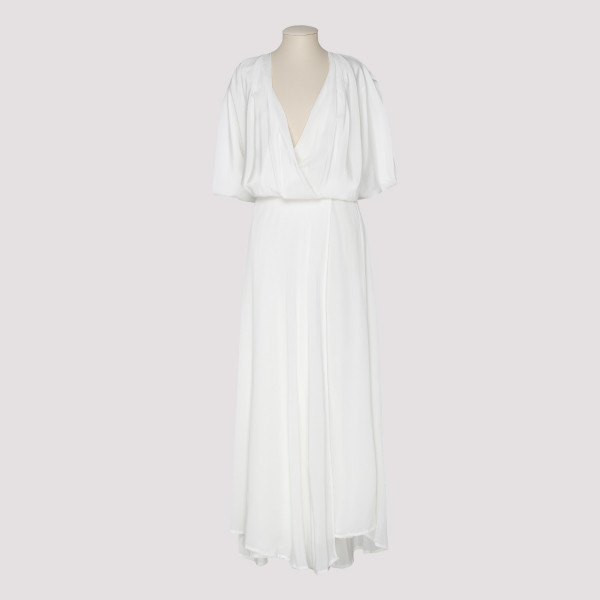 Ephyra white silk gown