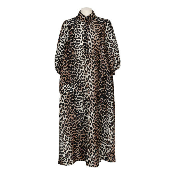 Leopard oversized shirt dress