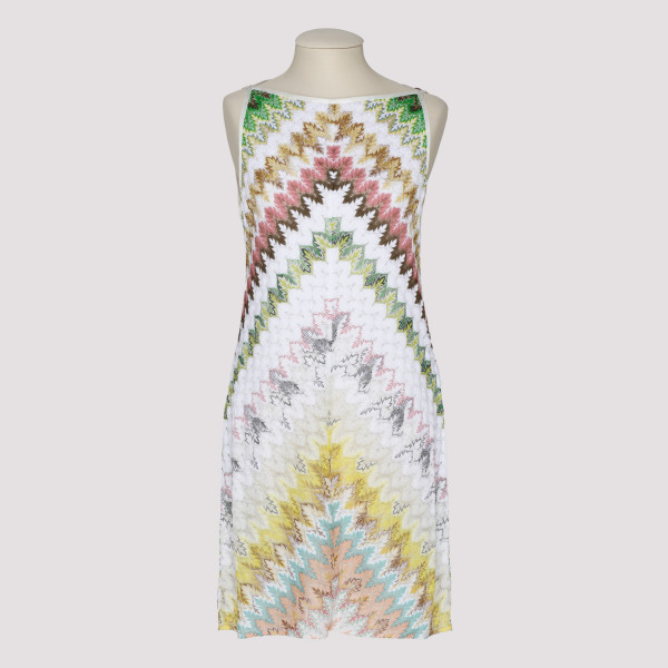 Multicolor knitted shift dress