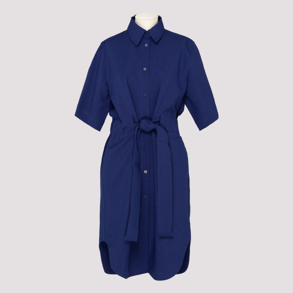 Navy blue shirt dress