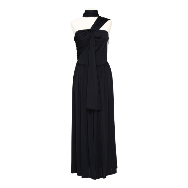 Black viscose gown
