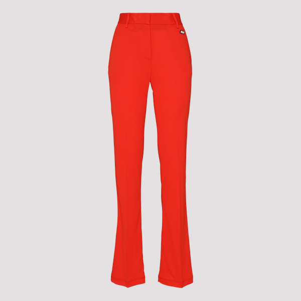 Red high-waist pants