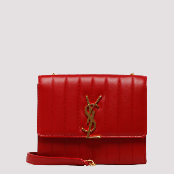 Vicky red quilted clutch