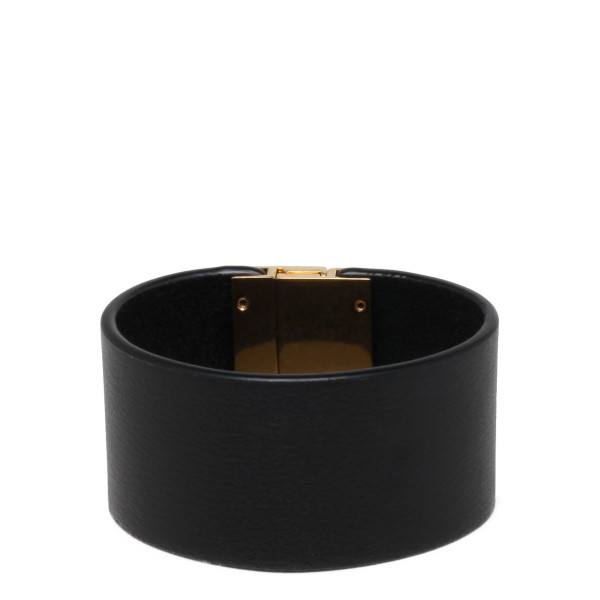 Black ID cuff bracelet