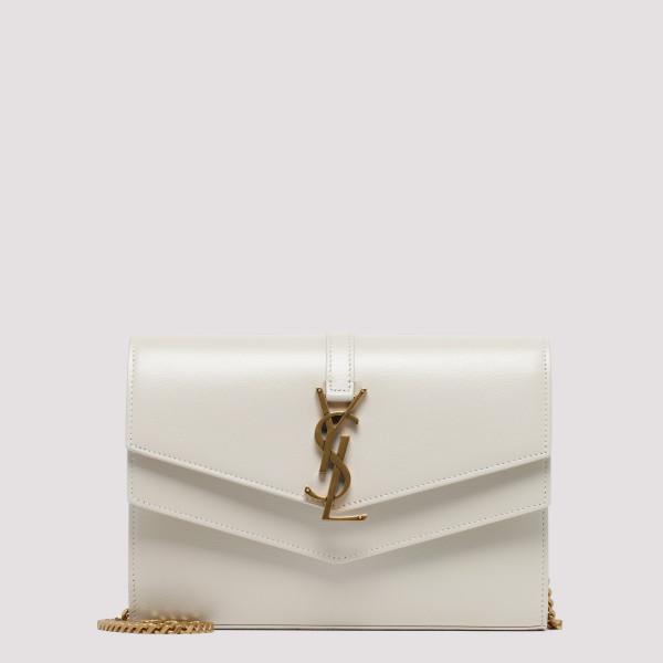 Sulpice white calf leather...