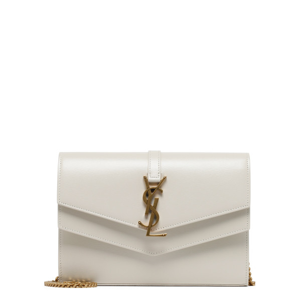 Sulpice white calf leather clutch
