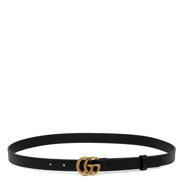 Black leather thin belt