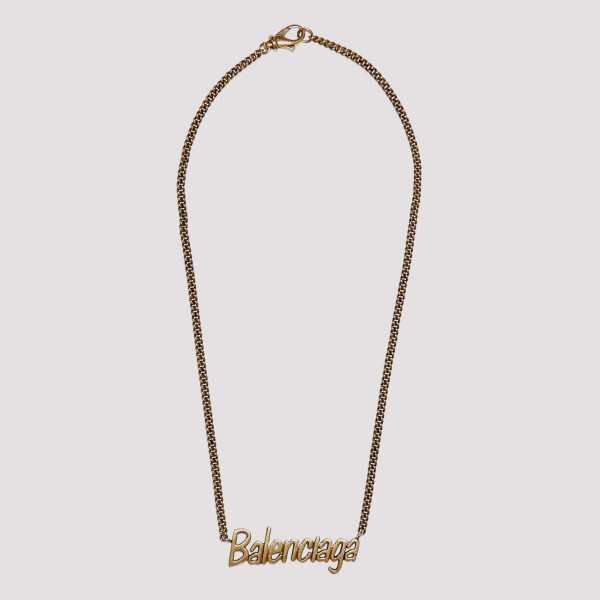 Golden chain necklace with...