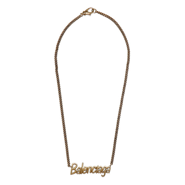 Golden chain necklace with logo