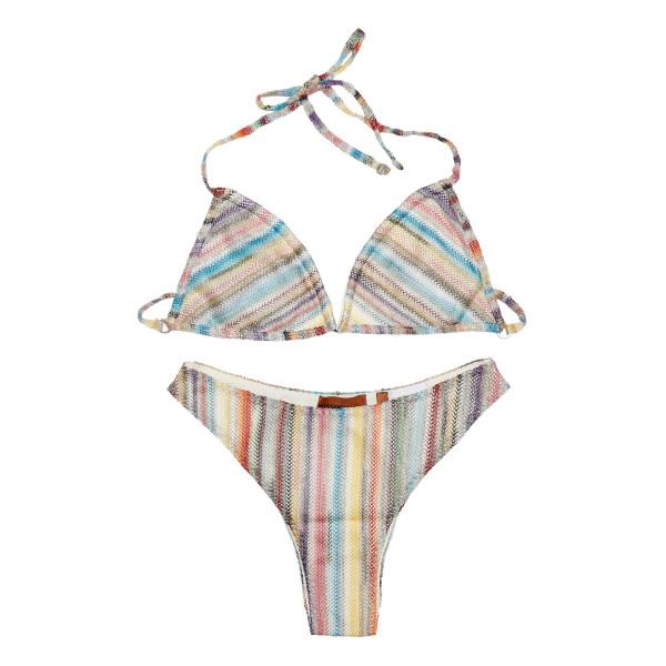 Multicolor striped bikini