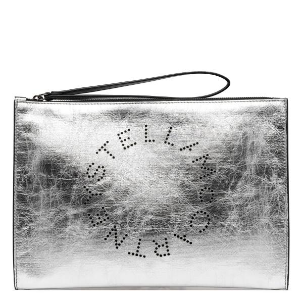 Silver laminated alter nappa Stella logo pouch