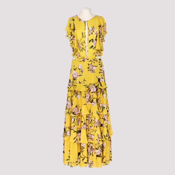 La Vie En Rose Floral Silk Dress
