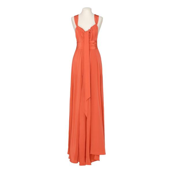 Orange Camille maxi dress