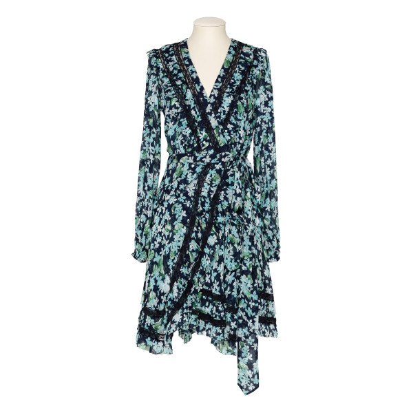 Moncur floral-print wrap dress