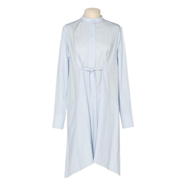 Light blue Asymmetric Poplin Shirtdress