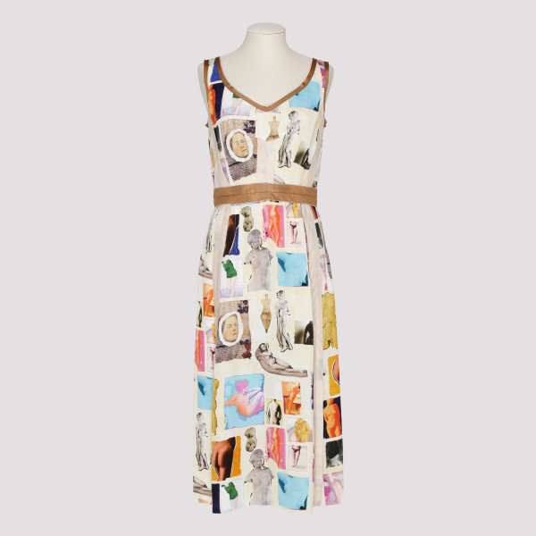 Venere print dress