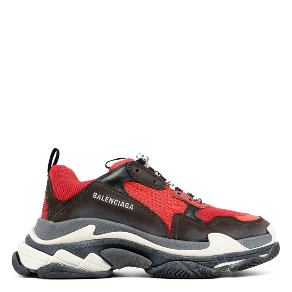 Red Triple S sneakers