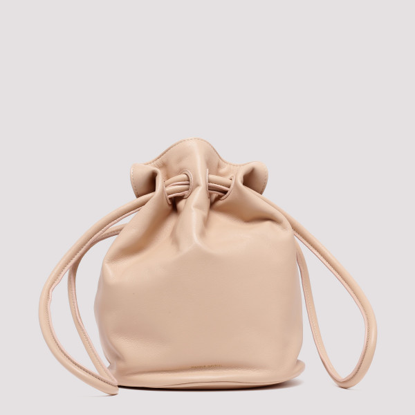 Pink drawstring bucket bag