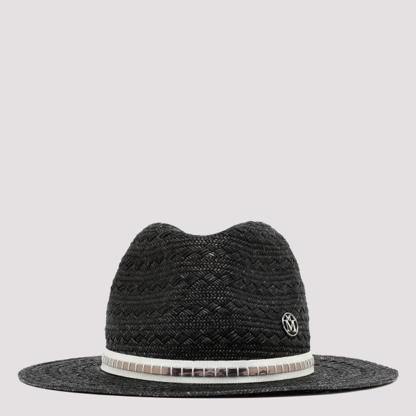 Black Straw Charles hat