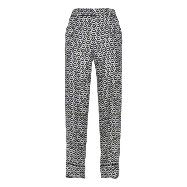 Black and white graphic printed pants