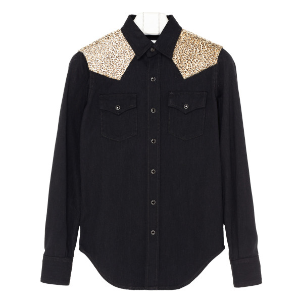 Black and animalier shirt