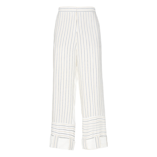 Maize stripe contrast panelled pants