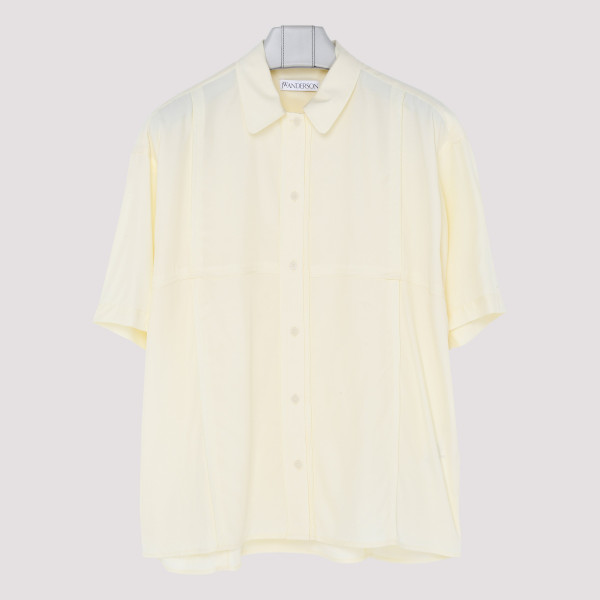 Buttermilk panelled shirt