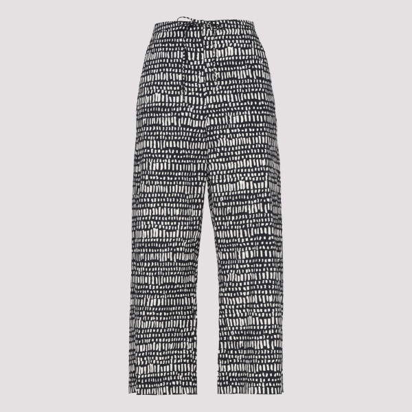 Printed poplin cotton pants