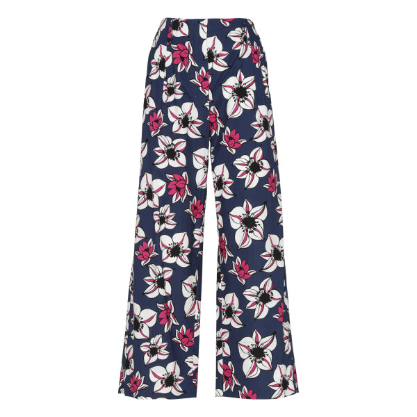 Solista floral cotton poplin pants