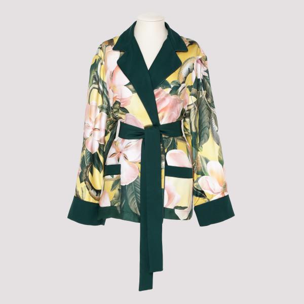 Giocasta floral silk belted...