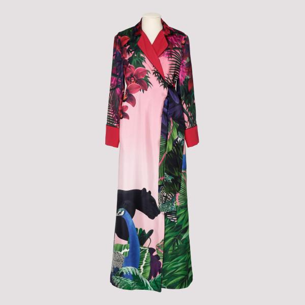 Alectrona printed silk maxi...