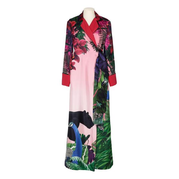 Alectrona printed silk maxi dress